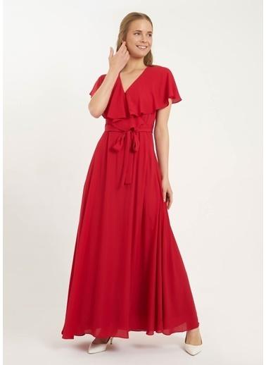 Tiffany&Tomato Queen Volan Yaka Elbise Kırmızı